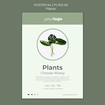 Modello di poster negozio di piante