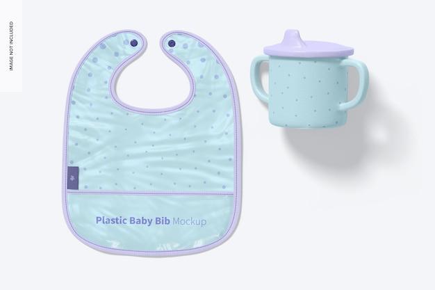 Пластиковый детский нагрудник мокап