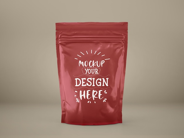 Plastic bag, foil pouch bag packaging. package for branding and identity.