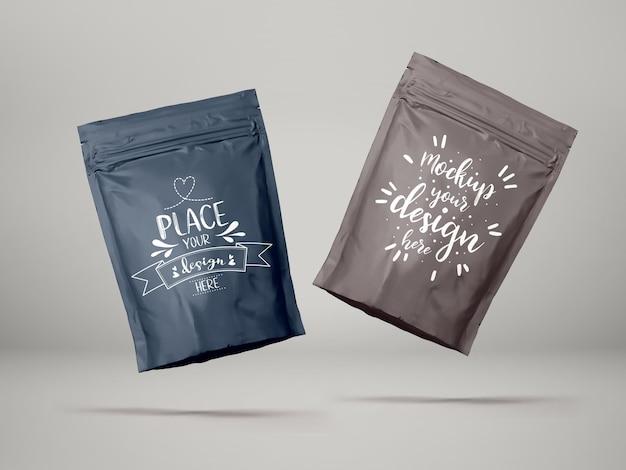 Sacchetto di plastica, confezione in sacchetto di alluminio. pacchetto per marchio e identità.