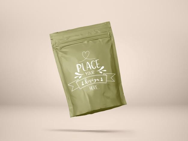 ビニール袋、ホイルポーチバッグ包装。ブランディングとアイデンティティのためのパッケージ。