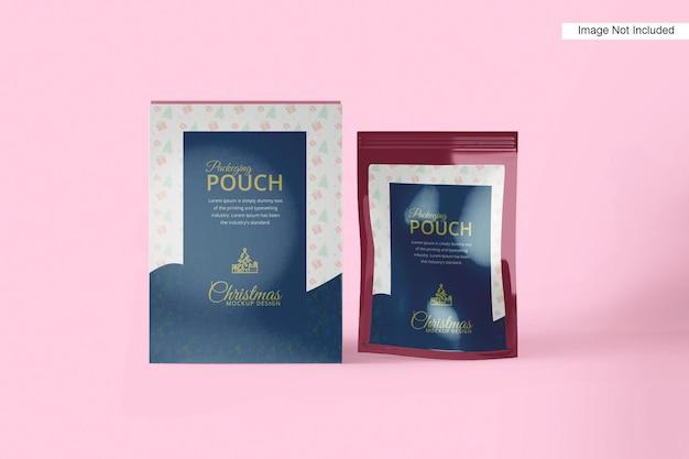 크리스마스를 위한 상자를 가진 비닐 봉투 호일 주머니 부대 포장 포장