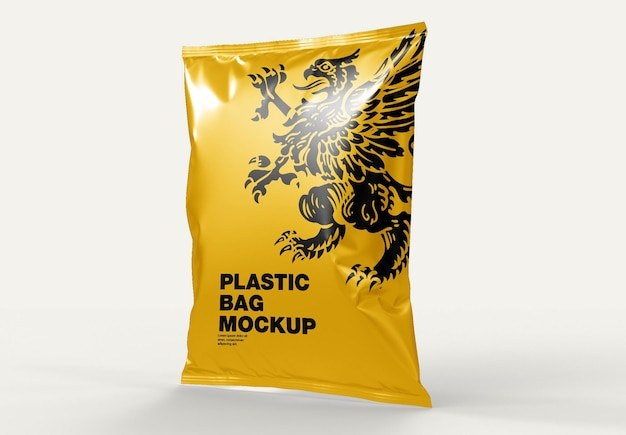 Мокап из пластикового пакета Premium Psd