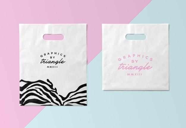 Plastic bag mockups isolated