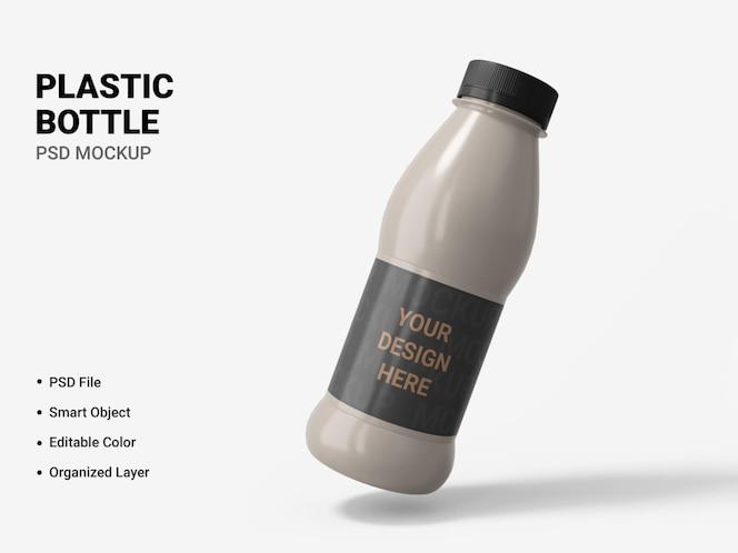 plastic bottle mockup design isolated
