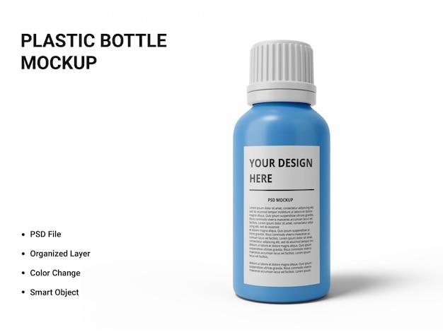 Изолированный дизайн макета пластиковой бутылки