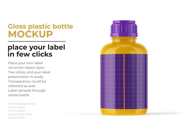 Изолированный макет пластиковой бутылки