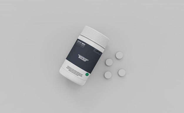 Пластиковая бутылка с наркотиками макет
