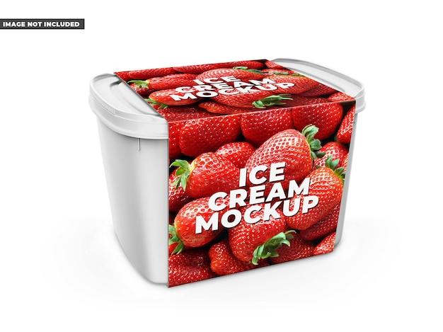 Plastic box mockup