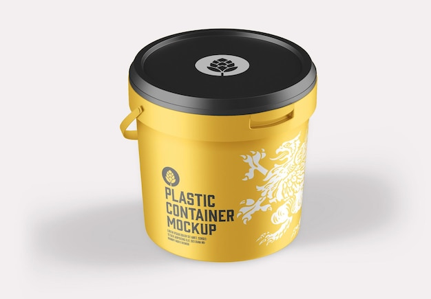 Мокап пластикового ведра