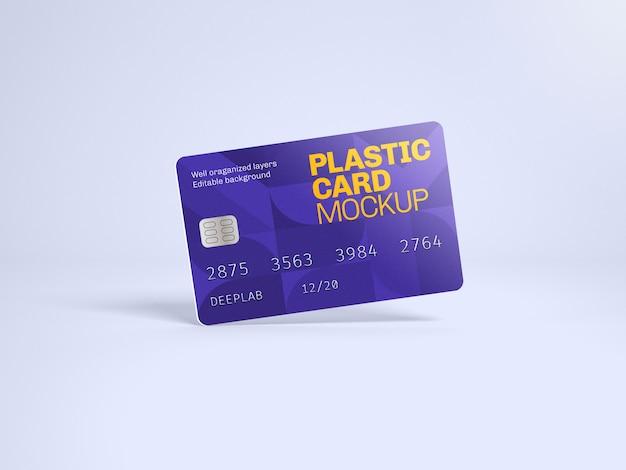 Макет пластиковой карты с редактируемым цветом фона