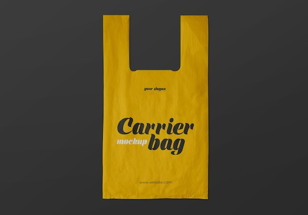 Макет пластиковой сумки-переноски