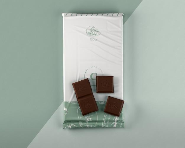 Макет пластиковой упаковки шоколада