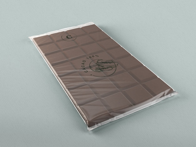 Plastic chocolate wrapping design