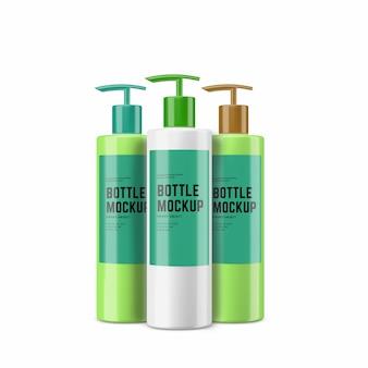 プラスチック化粧品ボトルモックアップデザイン