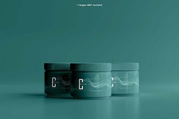 プラスチック化粧品ジャーモックアップ