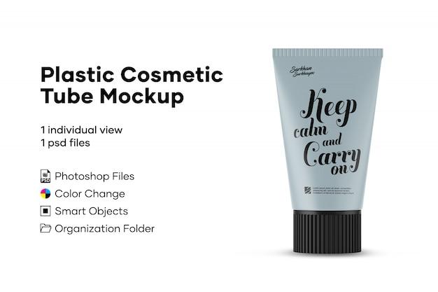 Plastic cosmetic tube mockup