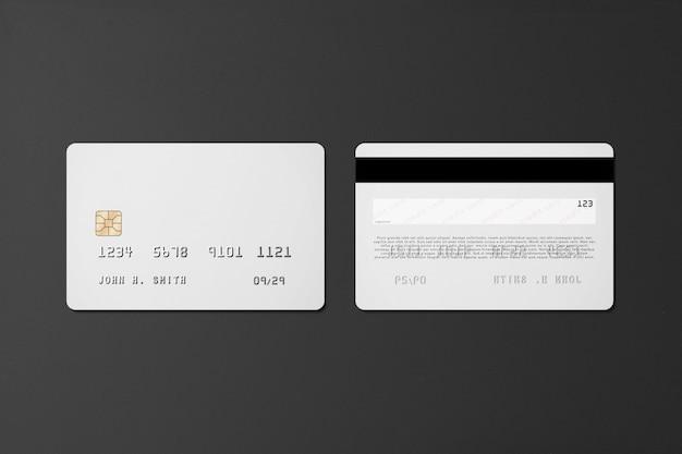 Пластиковая кредитная карта макет