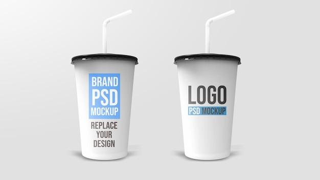プラスチックカップ3dレンダリングモックアップデザイン