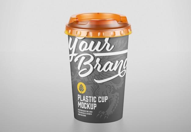 プラスチックカップのモックアップ