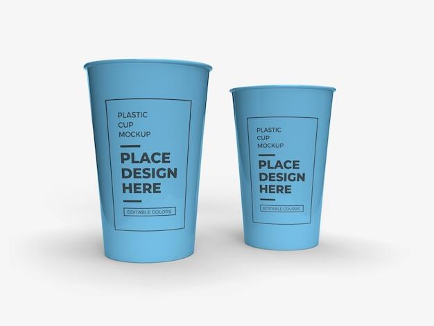 Дизайн макета упаковки пластиковых стаканчиков