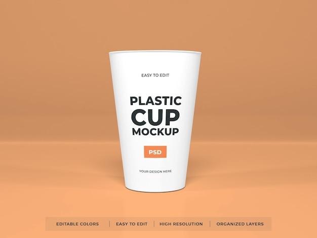 플라스틱 컵 제품 목업