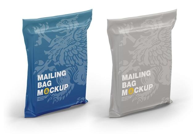 Plastic delivery bag mockup