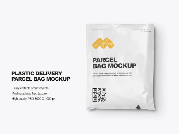 Plastic delivery mailin bag mockup