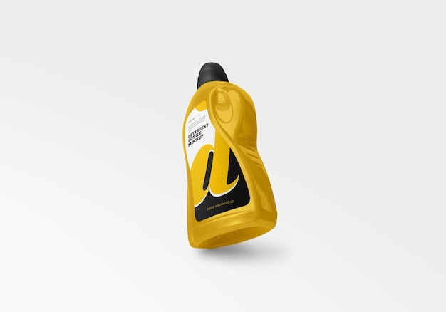 Макет пластиковой бутылки моющего средства в 3d-рендеринге Premium Psd