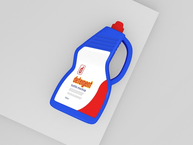 Мокап пластиковой бутылки с моющим средством