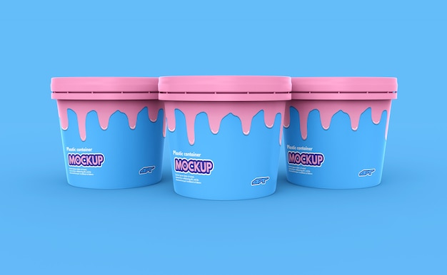 Plastic food container mockup