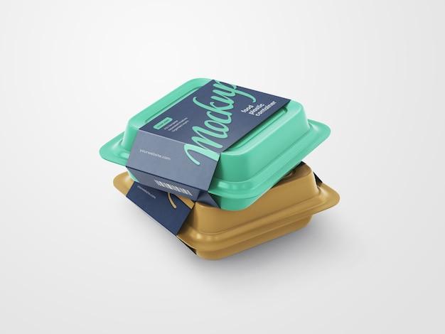 Мокап пластикового контейнера для пищевых продуктов