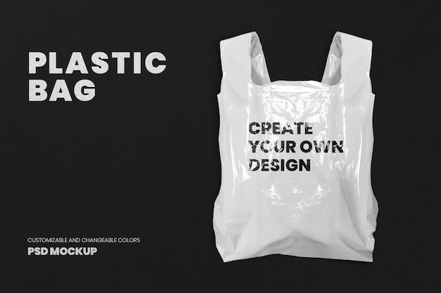 Plastic grocery bag mockup psd