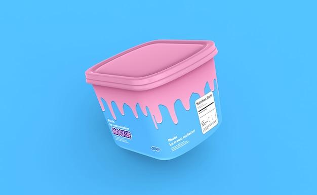 플라스틱 아이스크림 용기 상자 모형