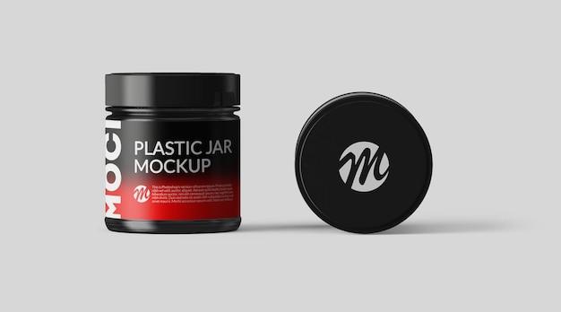 Plastic jar mockup design