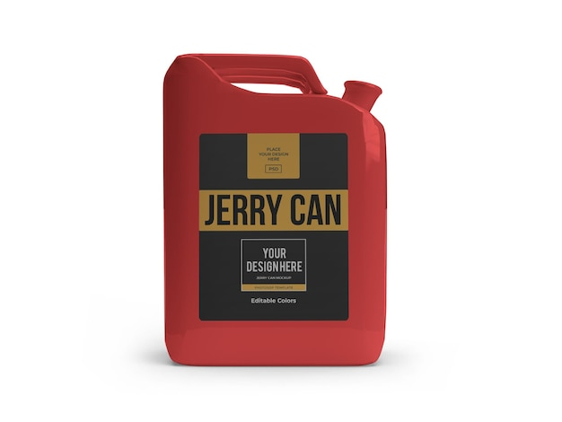 Plastic jerry can mockup template isolated