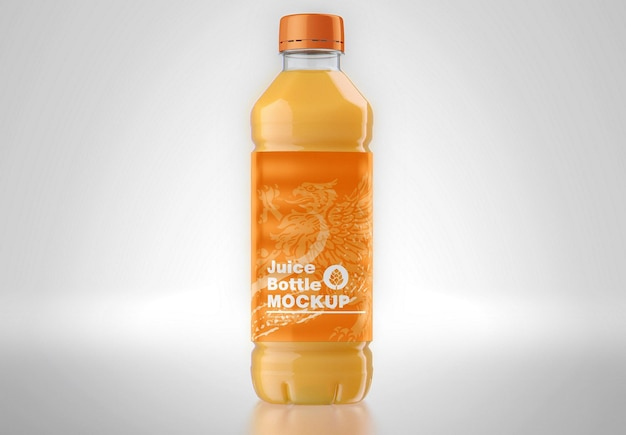 Мокап пластиковой бутылки сока