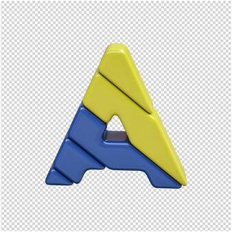 Plastic letter 3d rendering