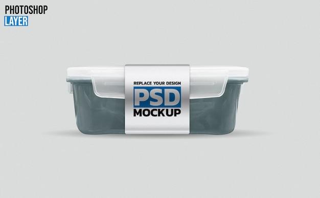 Plastic lunch box mockup