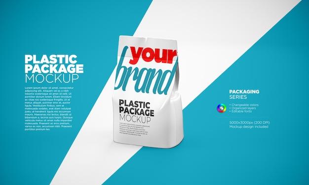 Plastic packaging mockup