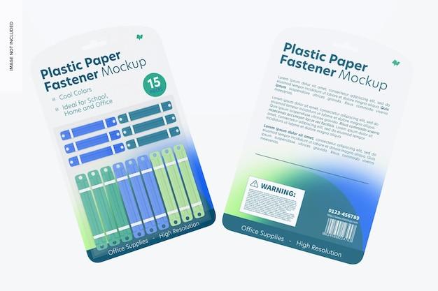 플라스틱 종이 패스너 물집 모형, 전면 및 후면