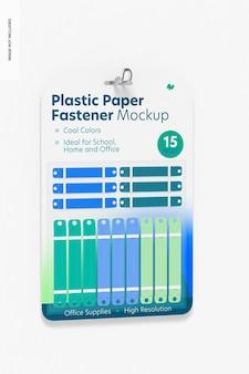 Mockup di blister con chiusura in carta di plastica, appeso