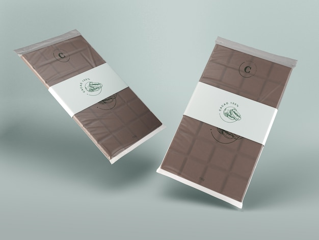 Plastic and paper wrapping for chocolate