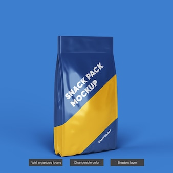 Plastic pouch bag mockup design