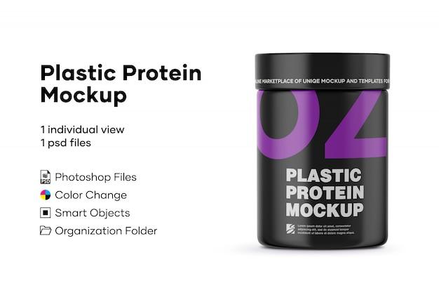 Plastic protein mockup