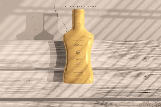 プラスチックソースボトルのモックアップ