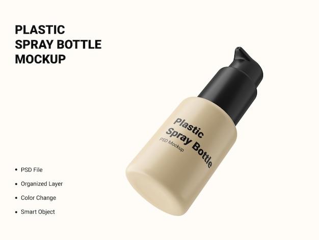 プラスチックスプレーボトルのモックアップ