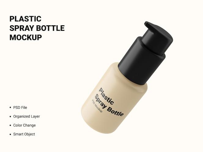 plastic spray bottle mockup