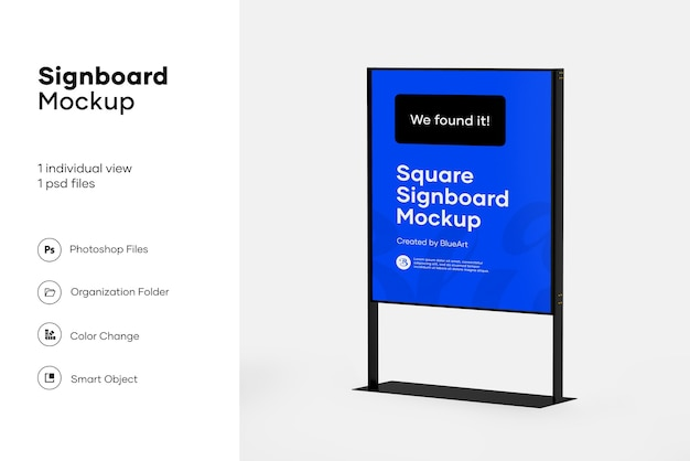 Plastic stand mockup design isolated