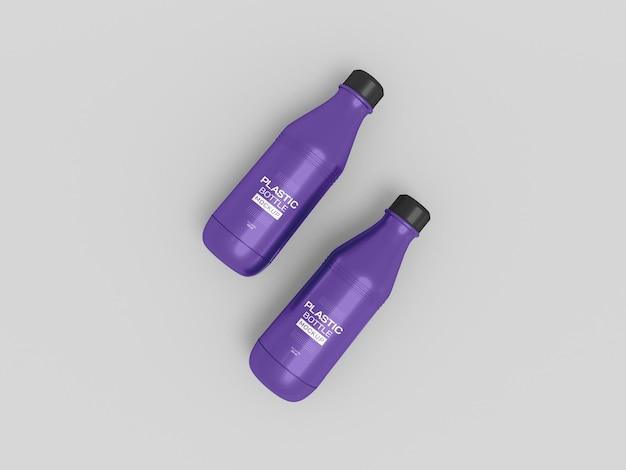 プラスチック製の水筒のモックアップ